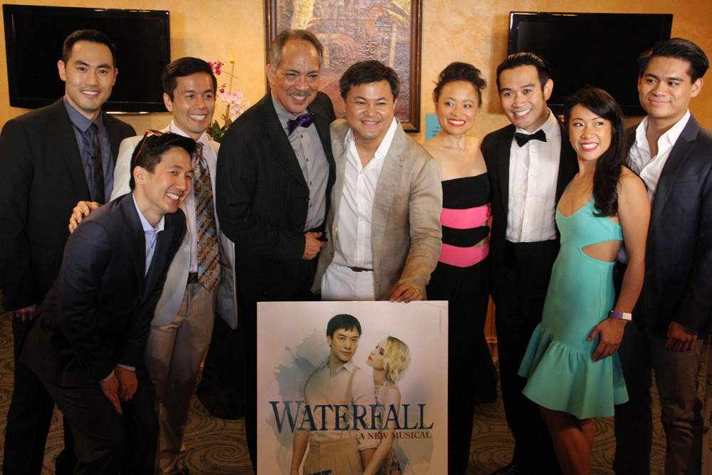 Part of the WATERFALL cast with Director, Tak Viravan