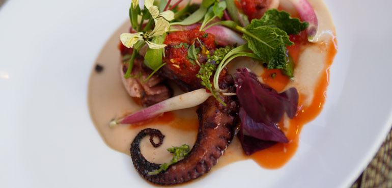 CHARRED OCTOPUS with house made Sambal sauce
